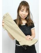 柄澤さとみさん☆ベージュのスエードのおしゃれなブーツ☆