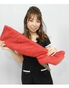 柄澤さとみさん☆あざやかあかいスエードのおしゃれなブーツ☆