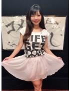 【茜結】生放送で着用した私物スカート&チェキ(直筆サイン入り)