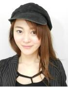 三上玲奈さん☆くろいかわいい帽子☆