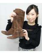 葉山なな子さん☆ちゃのスエードのブーツ☆
