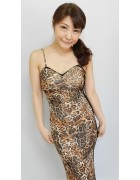 今村ちかさん☆豹柄のおしゃれなドレス☆