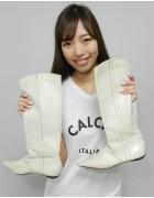 安野冴香さん☆しろいブーツ☆