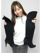 安野冴香さん☆くろいスエードのブーツ☆