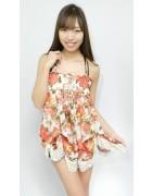 安野冴香さん☆花柄のかわいいワンピース☆