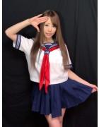 【桜井MIU】生放送で着用した私物セーラー風コスプレ衣装&チェキ(直筆サイン入り)