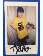 【1円スタート】杉原あやのさん5周年Tシャツ(サイン入りチェキ2枚付き!)