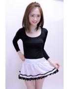 清水菜月☆ホワイトスカート
