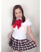 田中有香さんが撮影会で着用したJK風制服。【No2】サイン入りチェキ付き。