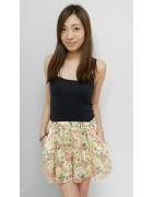 木下かれんさん☆花柄のかわいいスカート☆