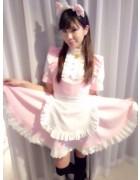 敦賀あいりさんの愛用したピンクの可愛いメイド服。サイン入りチェキ付き!