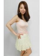 柄澤さとみさん☆ふりふりのかわいいミニスカート☆