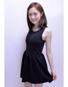 清水菜月☆ブラックミニワンピース