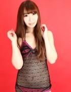 三崎りの☆直筆サイン入り写真&撮影衣装(羽織もの衣装/ブラック/レース)