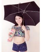 高村香代さんの愛用した折りたたみ傘。ケース付。チェキ付き!