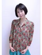 神山真悠子☆花柄シャツ