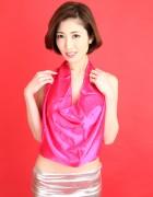久保まい☆直筆サイン入り写真&撮影衣装(羽織もの衣装/ピンク/シルバー/ボディコンタイプ)