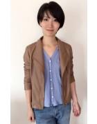 稲嶺朔さんが使用した合皮ジャケット。サイン入りチェキ付き。