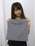 ☆結月こころ 直筆サイン入りドットひし形柄ミニスカート(黒×白)☆