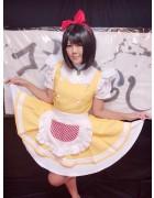 【光月樹里】生放送で着用したネコ型ロボットメイド服&チェキ(オマケ付き)