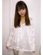 ☆結月こころ 直筆サイン入りツルツルプルオーバーシャツ(白)☆