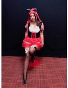 【早乙女あーたん】生放送で着用した赤ずきんコスプレ衣装・ニーハイ&チェキ(直筆サイン入り)