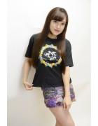 小松りな☆ブラックTシャツ