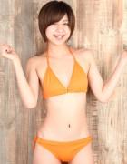 陽菜みなみ☆直筆サイン入り写真&直筆サイン入り撮影衣装(オレンジ)