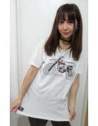 ☆結月こころ 直筆サイン入りバイクイラストTシャツ(白×黒)☆