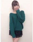 笹森陽菜さんが愛用した黒いスカートと緑のニットのセット。サイン入りチェキ付き!