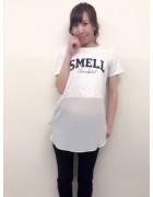笹森陽菜さんが愛用した黒いパンツとシースルーシャツのセット。サイン入りチェキ付き!