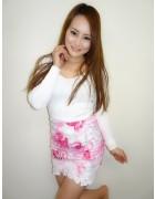 いしいめぐみさんが愛用したピンク色のスカート。サイン入りチェキ付き。