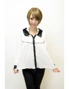 さくら☆ホワイトブラックシャツ