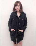 笹森陽菜さんが愛用した黒いコート。サイン入りチェキ付き!