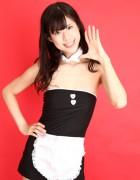赤宮彩咲☆直筆サイン入り写真&撮影衣装(メイドコスチューム)
