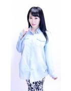 明日華☆ブルーワイシャツ