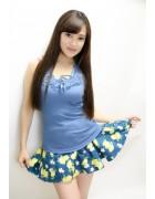 小松りな☆愛用☆ブルーイエロースカート