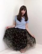 井村麻美 サイン入り カモフラージュメッシュスカート