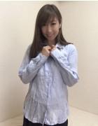 井村麻美 サイン入り 水色長袖シャツ