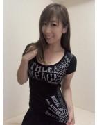 井村麻美 サイン入り ブラックバタフライTシャツ