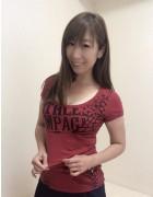 井村麻美 サイン入り レッドバタフライTシャツ