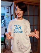 女優つねまつかほの直筆サイン入り【7周年】Tシャツ。サイン入りチェキ付き!