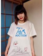 女優 堀さやかの直筆サイン入り【7周年】Tシャツ。サイン入りチェキ付き!
