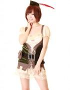 レジーナ! 桜木ゆい直筆サイン入り写真+撮影衣装(ピーターパンコスチューム×グリーン)