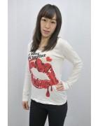 藤城えりか★サイン入りリッププリントのロングTシャツ
