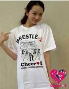 Cheer 1TOMO限定直筆サイン入り『Cheer 1×WRESLE-1』コラボTシャツ【14】