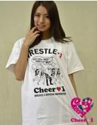 Cheer 1橘沙奈 限定直筆サイン入り『Cheer 1×WRESLE-1』コラボTシャツ【21】