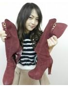 紫乃さん☆ワインカラーのブーツ☆