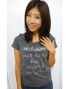 ☆夏雪 直筆サイン入りボーダーTシャツ(グレー×ブラック)☆