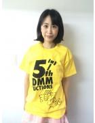浅海こはる★直筆サイン入りDMM5周年記念Tシャツ★チェキ付き